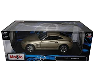 Chrysler Crossfire 1:18 Gold Diecast Car Model Maisto