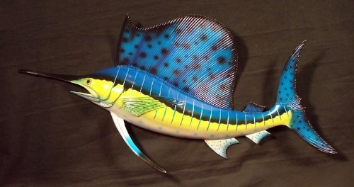 Ocean Sailfish Salt Water Fishing Replica Wall Mount (Fishing Wall Mount compare prices)