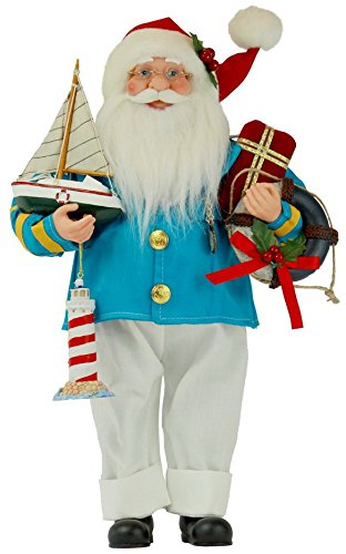 16-Inch-Standing-Coastal-Santa-Claus-Christmas-Figurine-Figure-Decoration-61610