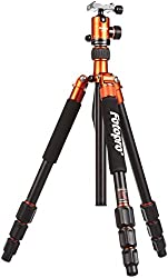 Fotopro Colorful and Stylish Aluminium Tripod + Low Angle +Payload 8kg Color-Orange