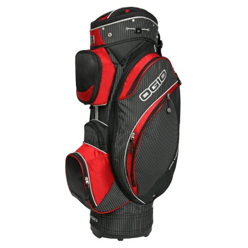 Ogio Kingpin Men's Cart Bag - Pinstripe/Red