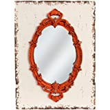 American Mercantile Wood Framed Mirror, Red