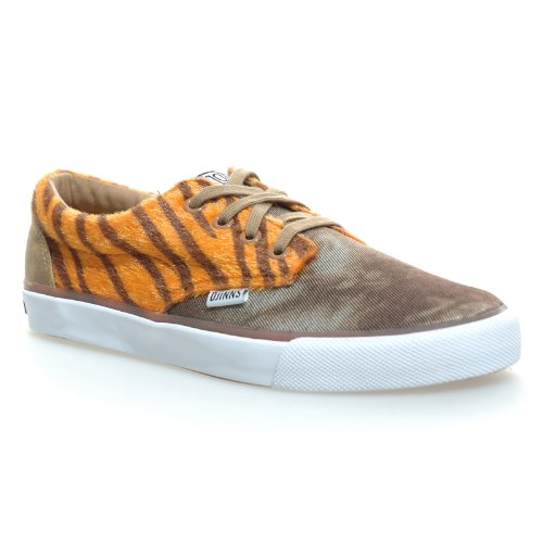 Djinns - NICE TIGER - CRAZY PATTERN - Low Top Sneaker - Orange / Braun-36