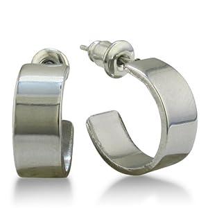 Crazy Low Price! Classic Stainless Steel Huggy Hoop Earrings