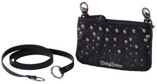 Harley-Davidson® Women's Rider Leather Hip Bag Purse. Red Dagger Lining. Hardware. RD9000L