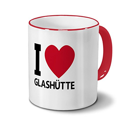 Städtetasse Glashütte - Design I Love Glashütte