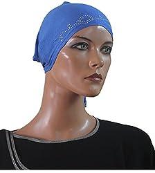 Apparelsonline 100%COTTON Soft UNDER SCARF BONNET CAP HIJAB BANDANA HAIR LOSS Chemo