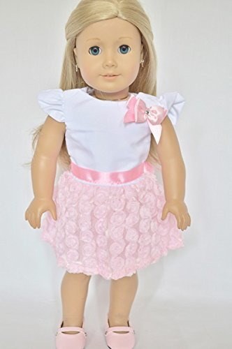PINK CARNATION DRESS FOR AMERICAN GIRL DOLLS