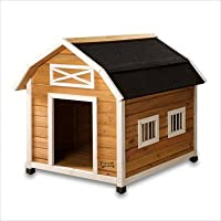 Large Barn Dog House Pet Squeak