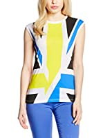 Dirk Bikkembergs Top (Blanco / Azul Royal)