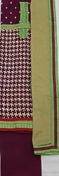 AVC-Anthra Women's Chanderi Unstitched Salwar Suit (11015, Purple)