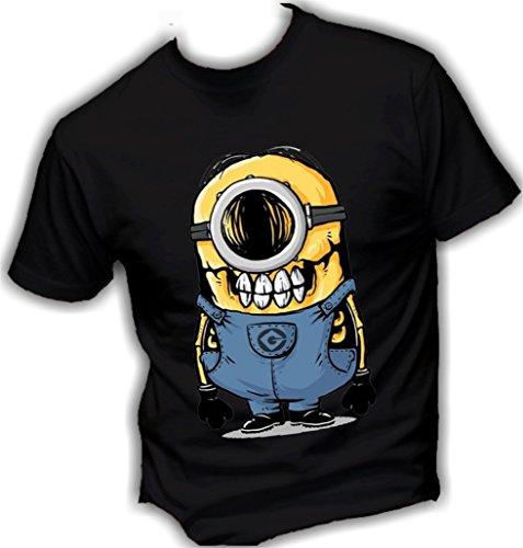 Social-Crazy-Camiseta-para-hombre-negro-M