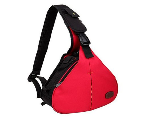 Zenness Dslr Camera Case Bag For Canon Eos 70D 60D 6D T3I T4I T5I 7D 5D Mk Series Nikon D610 D600 D7000 D7100 D5200 D3200 D800 D300S (Red)