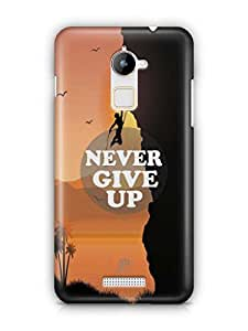 YuBingo Never Give Up Mobile Case Back Cover for Coolpad Note 3 Lite