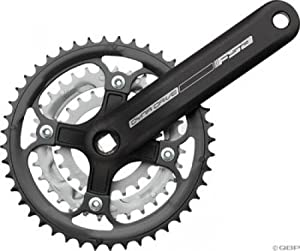 FSA DynaDrive Square Taper Crankset 175mm 22-32-44 Black; Bottom Bracket Not Included