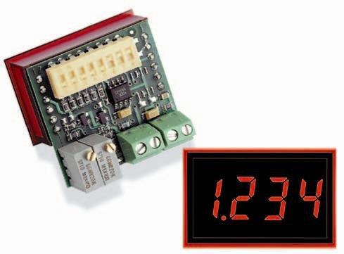 Digital Panel Meters 0-5V 3 1/2 Digit Led Std Intense Red
