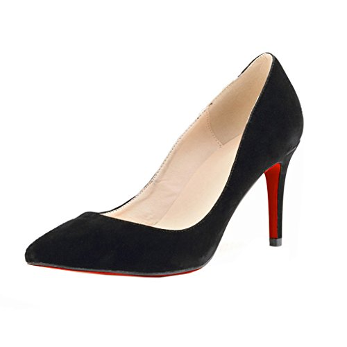 Many Christian Louboutin shoes are accented with studded straps, feathers, bows, and the signature red soles popularly known as