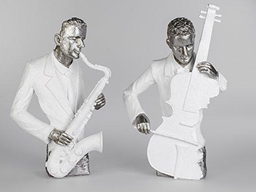 Dekofigur-Musiker-moderne-Bste-Jazz-Musiker-mit-Bass-oder-Saxophone