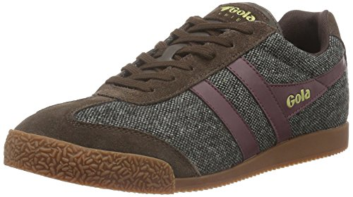 Gola Men's Harrier Woven Fashion Sneaker, Dark Brown/Burgundy, 9 UK/10 M US