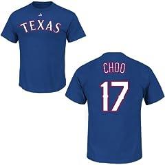 Shin-Soo Choo Texas Rangers Royal Player T-Shirt by Majestic by Majestic