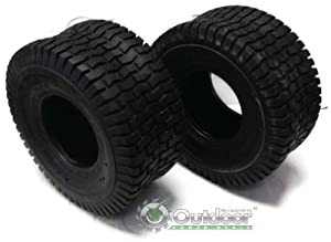 Set of 2 16x6.50-8 16-6.50-8 Turf Tires 4 Ply Tubeless Garden Tractor Lawn mower by OPD