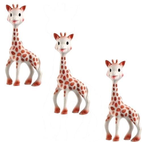 Vullie 616324-3 Sophie the Giraffe Teether Set of 3 - 1