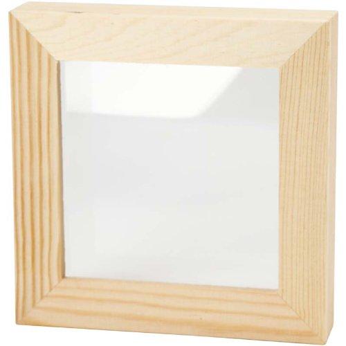 Box cornice di legno bianco cornice 15 x 15 cm legno for Cornici amazon