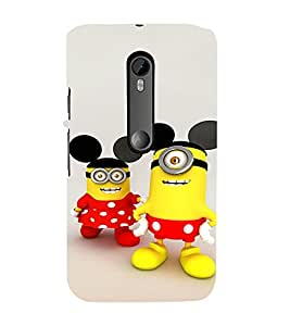 EPICCASE Minion with Mickey Ears Mobile Back Case Cover For Moto G 3rd Gen (Designer Case)
