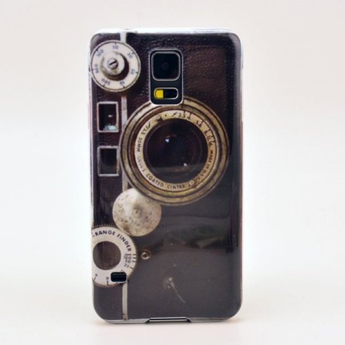 Newstore Retro Old Snap-On Camera Style Pattern Hard Snap On Plastic Case Cover For Samsung Galaxy S5 Sv I9600