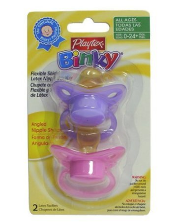 Playtex Binky 0-24M+ Angled Nipple, Bpa Free, 2 Count (Assorted Colors) (Pack Of 3) front-1028771