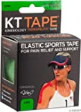 KT Tape - Kinesiology Therapeutic Elastic Athletic Tape Pre-Cut Strips Green - 20 Strip(s)