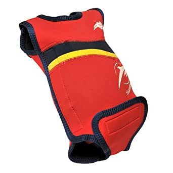 Baby wetsuit - Red/Navy - 0-6 months - baby warmer neoprene wet suit, perfect for the pool or beach