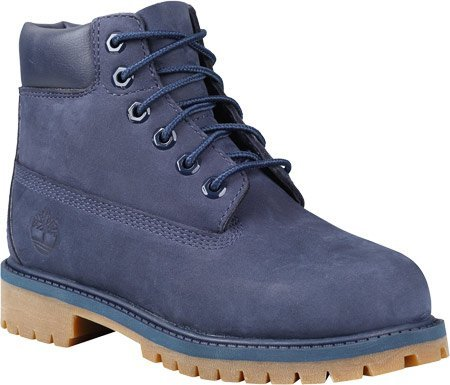 Timberland TB03793A484 Youth's 6-in Premium WP Boot Navy Monochrome