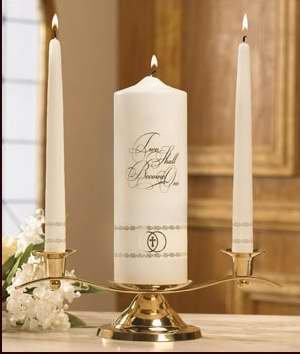 Candle - Wedding - Unity Set - Two Shall Become One - Gold