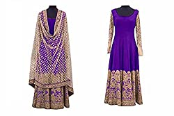 Khazanakart Women Exclusive Cotton Designer Bollywood And Partywear Salwar Suit Dress Materials with Heavy embroidered work