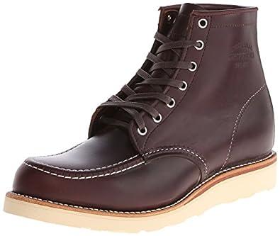 Original Chippewa Collection Men's 6 Inch Moc Toe Boot,Cordovan,9 E US