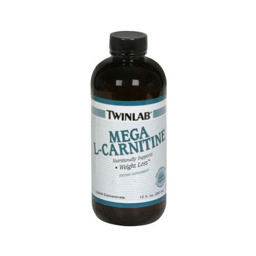 Twinlab Mega L-Carnitine Liquid Concentrate, 12 Ounce