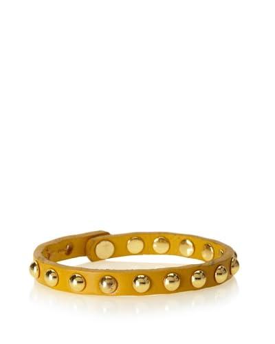 Linea Pelle Mustard Shiny Domed Stud Stack Bracelet