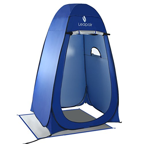 Leapair Dressing Tent Shower Privacy Portable Camping Beach Toilet Pop Up Tents Changing Room Outdoor Backpack Shelter Blue (Portable Shower Tent compare prices)