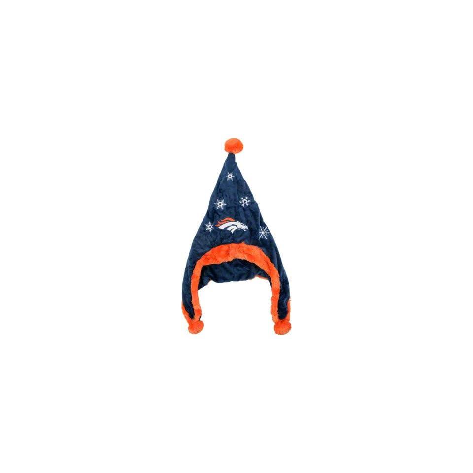 Denver Broncos NFL Official Team logo Stadium Dangle Santa Hat *NEW ITEM*