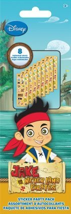 Jake and the Neverland Pirates Sticker Sheet Party Favors for Eight - 1