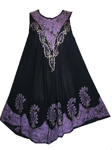 3250 DR Rayon Tie Dye Batik Umbrella Sheer Mid Length Dress – One Size S/M/L