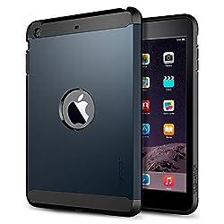iPad Mini 3 Case, Spigen [AIR CUSHION] iPad Mini 3 Case [Tough Armor] [Metal Slate] Air Cushioned Protective Case with Dual Layer for iPad Mini 3 / iPad Mini 2 - Metal Slate (SGP10623)