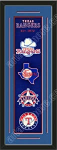 Heritage Banner Of Texas Rangers With Team Color Double Matting-Framed Awesome &... by Art and More, Davenport, IA