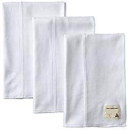 Burt\'s Bees Baby Boys\' Organic Bee Essentials Burp Cloth 3 Pack, Cloud, One Size