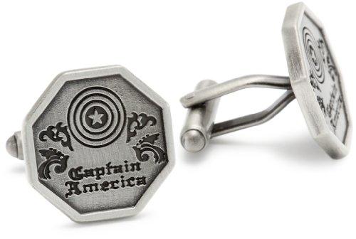 Marvel Comics Capt America Silver Men's Cuff Links