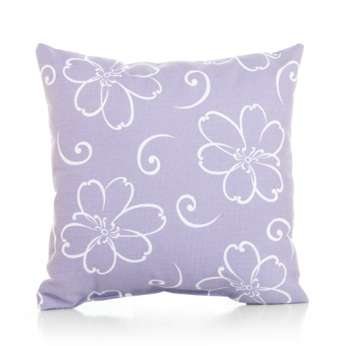 Sweet Potato Flowers On Lavender Ground Pillow, Lulu front-71528