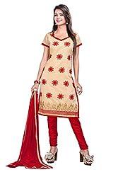 DKS Designers Women's Chanderi Unstitched Dress Material (PARI38805_Brown_Free Size)