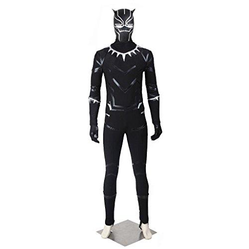 CosplayDiy Men's Suit for Captain America 3 Civil War Black Panther Cosplay