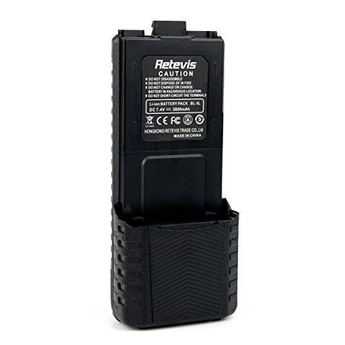 Retevis 7.4V 3800mAh Baofeng UV-5R Li-ion Battery for BaoFeng BF UV5R TYT TH-F8 Retevis RT 5R/RT 5RV 2 Way Radio(1 Pack)